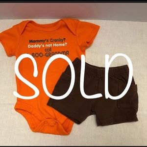 SOLD-Carter's Baby Boy's 2-Piece Outfit